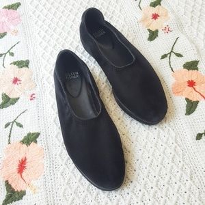 EILEEN FISHER Black Suede Loafer Flats 8.5